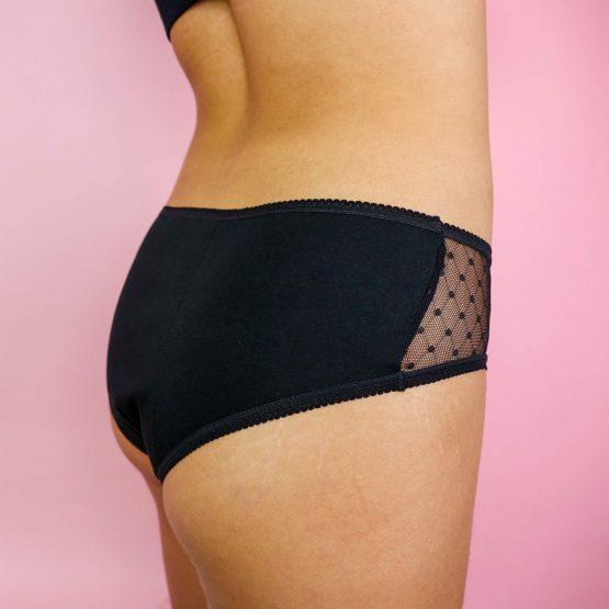 Czarna bielizna menstruacyjna Trust underwear